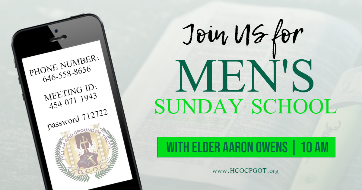 men's sunday school