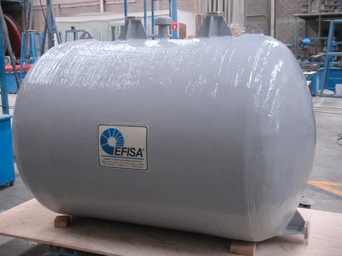 Tanque horizontal 2,000 litros EFISA