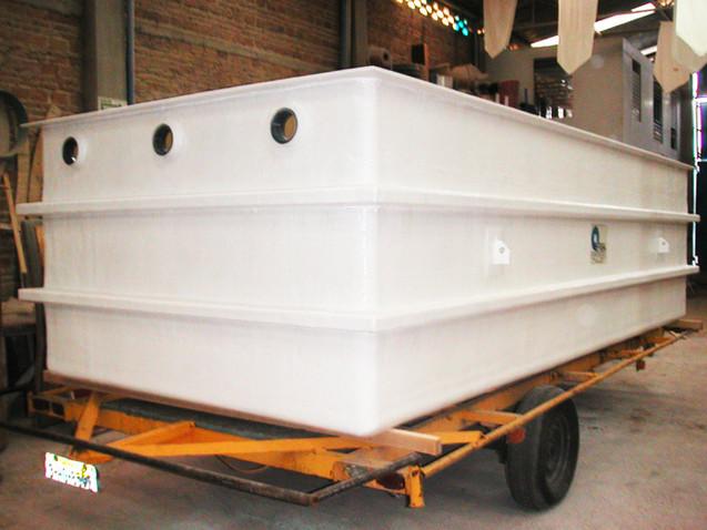 Tina 25,000 litros, tratamiento aguas residuales EFISA