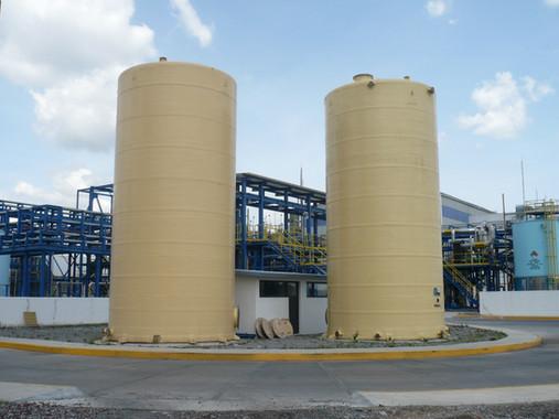 Tanques 125,000 litros, forro PVC EFISA