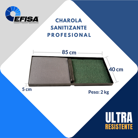 Charola Sanitizante Profesional EFISA 01