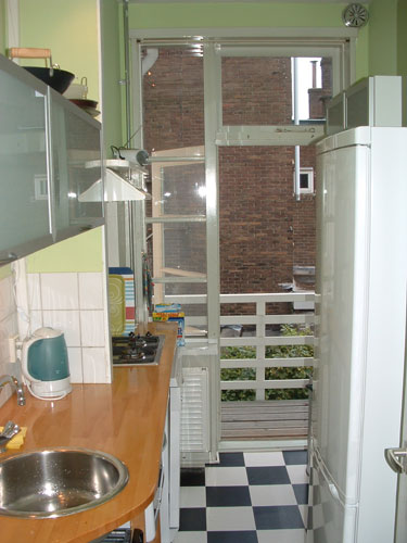 kitchen of the house