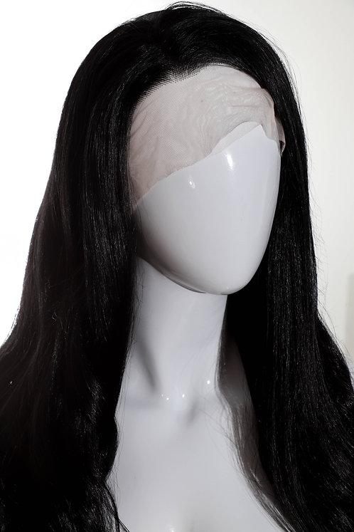 Perruque brune longue