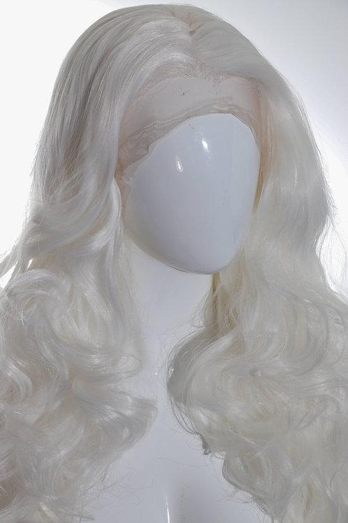 Perruque blanche longue