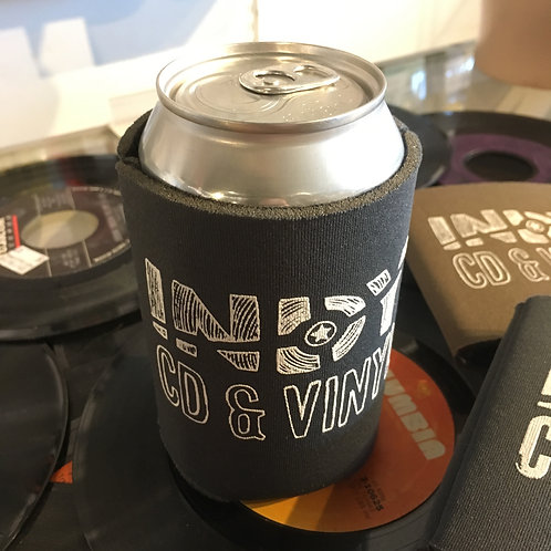 Indy CD & Vinyl can koozie