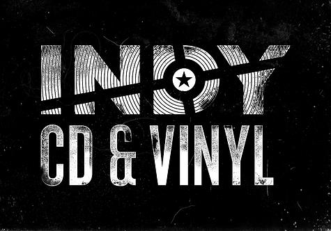 Indy CD & Vinyl black zip hoodie