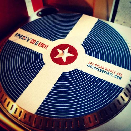 Indy CD & Vinyl Custom Turntable Slipmat