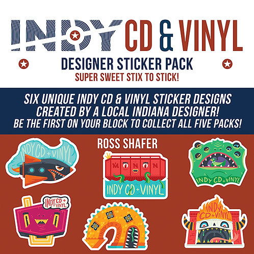 Designer sticker pack, Ross Shafer designs