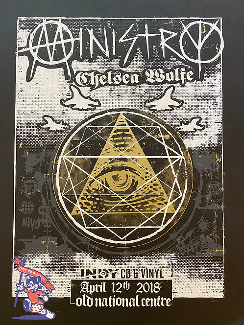 Ministry - Chelsea Wolfe Screenprinted Poster
