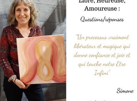 Libre, Heureuse, Amoureuse : Questions/réponses de Simone