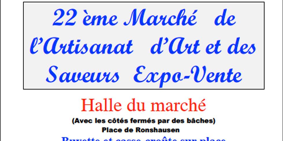 22ème marché de l'Artisanat d'Art et des Saveurs le samedi 26 mai de 9H à 18H00 à GENAS.