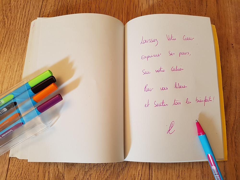 Les vertus de l'écriture - claude LEBLANC - coeur d'énergie