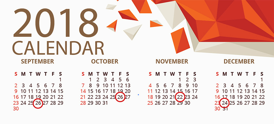 Payslips calendar example