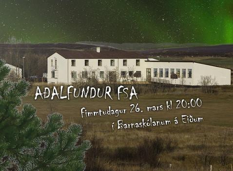 Aðalfundur FSA 2020