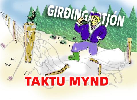 Girðingartjón, taktu mynd !!!