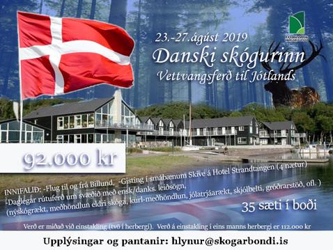 Sex sæti enn í boði í för til Danmerkur í ágúst.