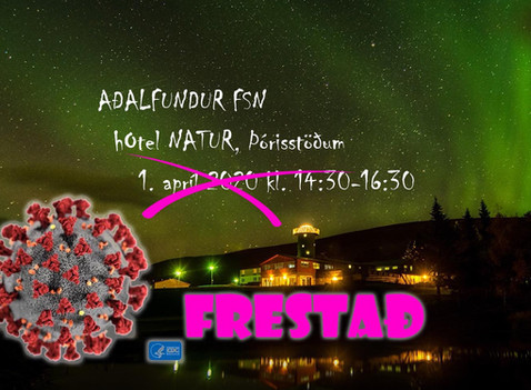 Aðalfundur FSN 2020 FRESTAÐ!!!