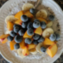 Breakfast is ready. Chia seed pudding wi