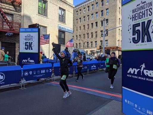 Washington Heights 5K the first Club race of 2020