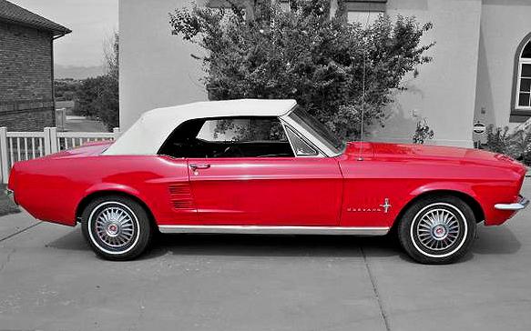 1967 Mustang Convertible contrast