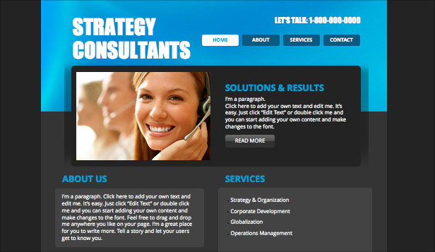 Consulting & Coaching website templates – Strategy Consultant