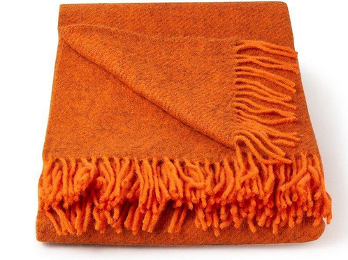 Klippan Plaid Gotland Orange Oranje 130x200