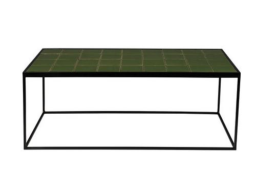 Salontafel Glanzend Groen Zuiver 93x43x36h cm