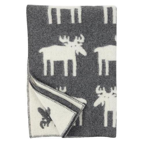 Klippan plaid Moose Grey White 130cm x 180cm