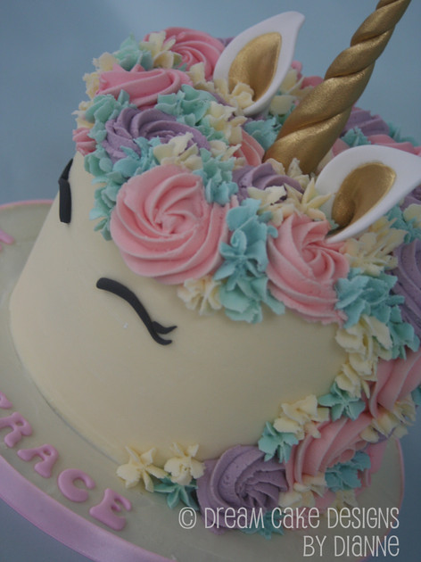 UNICORN ~ Smash Cake (can be made with buttercream)
