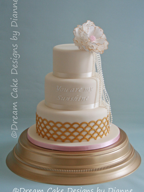 'AIMEE' ~ Great Gatsby inspired 3 tier wedding cake