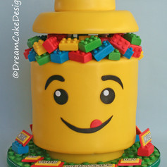 LEGO HEAD STORAGE BUCKET CAKE