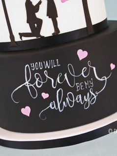 FOREVER & ALWAYS ~ stunning story line silhouette with hand painted chalk effect tier ...