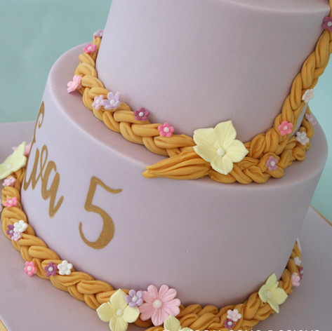 'EVA' ~ 2 TIER PRETTY RAPUNZEL THEMED CAKE