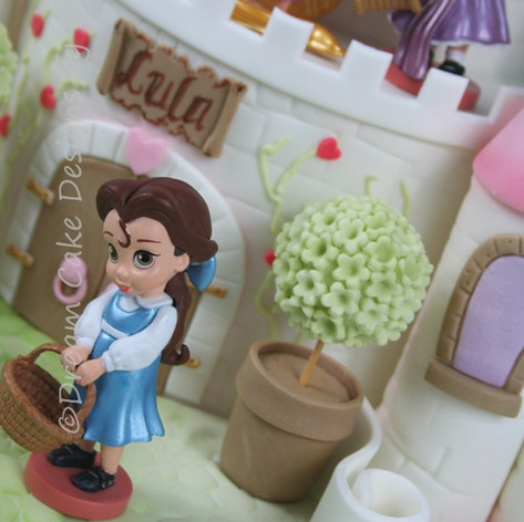 'LULA' ~ 2 TIER DISNEY THEMED PRINCESS CASTLE CAKE