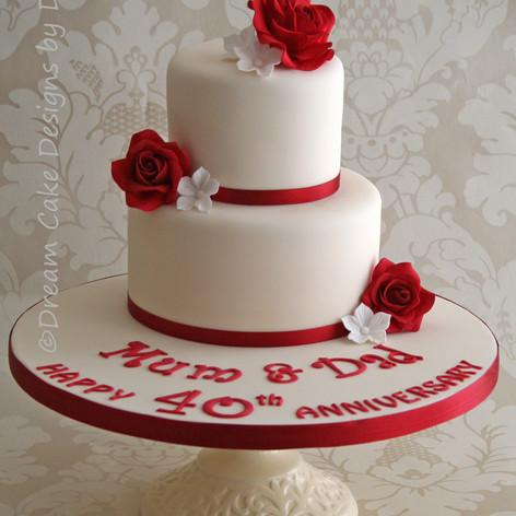 '40 YEARS' ~ Ruby Wedding Anniversary