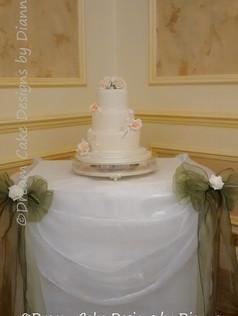 'CATHERINE' ~ Wedding cake set up at Wentbridge House Hotel