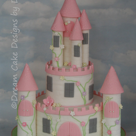 'ESTHER' ~ 2 TIER Princess Castle Cake