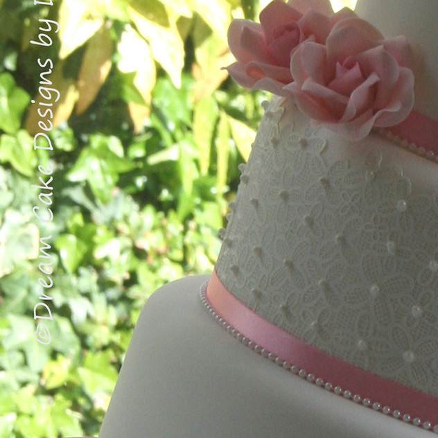 Wedding Cake set up at the Kings Croft Hotel