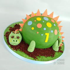 DINOSAUR 1st BIRTHDAY | CAKE SMASH