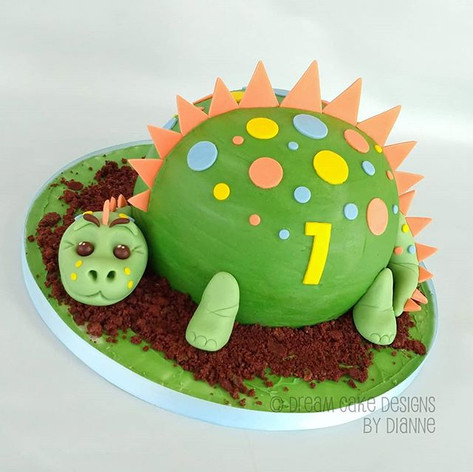 DINOSAUR 1st BIRTHDAY | CAKE SMASH
