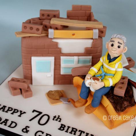 70th BIRTHDAY ~ BUILDER & SKIP