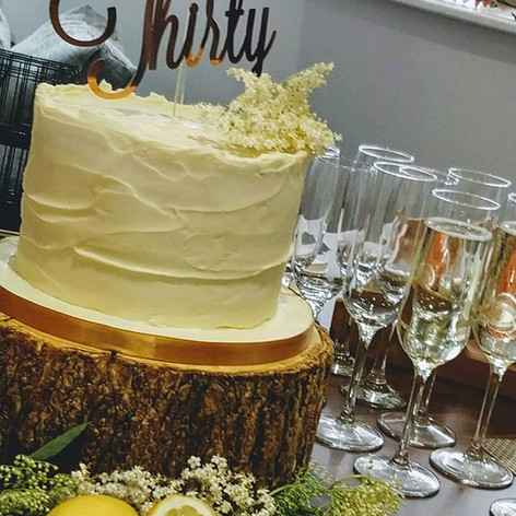 RUSTIC BUTTERCREAM CELEBRATION CAKE