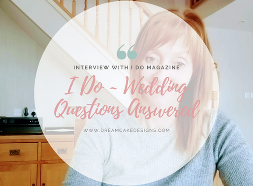 Q & A with 'I DO' magazine (16th June 2020)