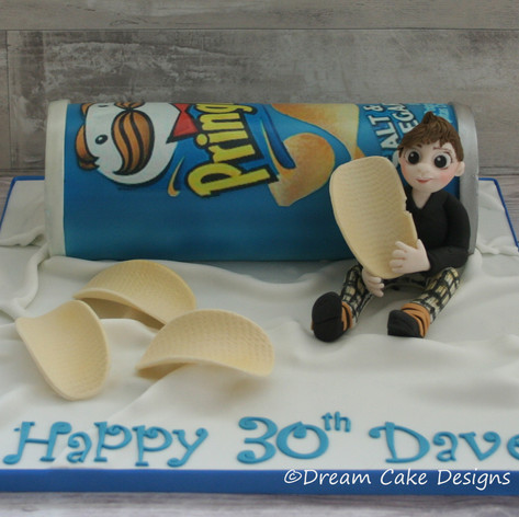 'DAVE' ~ PRINGLES CAKE & CHARACTER