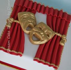'ABI' ~ theatre style 30th birthday cake