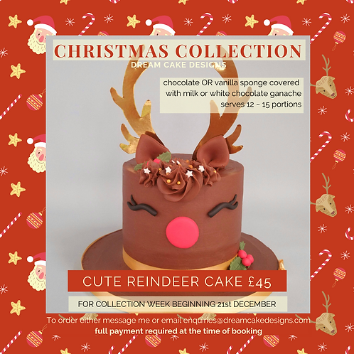 Christmas Reindeer Cake