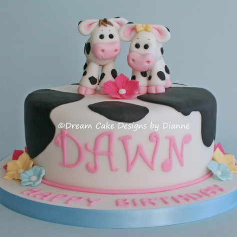DAWN ~ BIRTHDAY COW CAKE