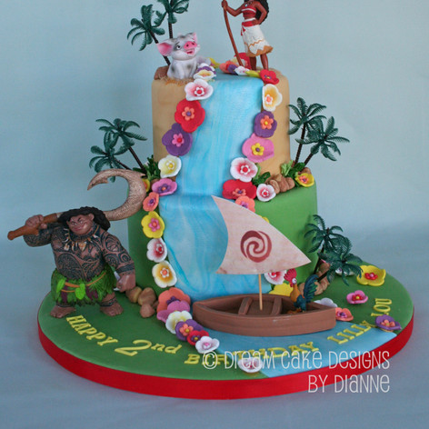 LILLY ~ LOU | MOANA THEMED CAKE