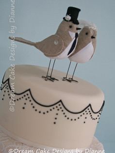 'AIMEE' ~ Decorated with the couples own topper