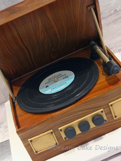 'EMILY' ~ realistic vintage record player complete with personalised vinyl